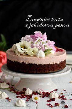 Brownies torta s jahodovou penou   The Story of a Cake