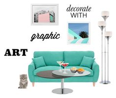 """""""Decorate With Graphic Art"""" by fefy96 ❤ liked on Polyvore featuring interior, interiors, interior design, home, home decor, interior decorating, Chintaly Imports, ThinkGeek, LSA International and Lite Source"""