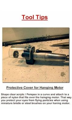 Jewelry Tool Tips - Protective Hanging Motor Cover