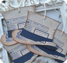 French Paris Hat Tags for the Groom by LittlePaperFarmhouse, $5.95