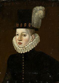 Spanish School. Prince Philip III, aged 10, c. 1590. (Escuela Española, XVI Retrato de Felipe III, Príncipe, de unos 10 años,circa 1590).
