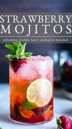 Cocktail And Mocktail, Fun Cocktails, Best Party Drinks, Rum Cocktail Recipes, Prosecco Cocktails, Sangria, Bar Drinks, Non Alcoholic Drinks, Beverages