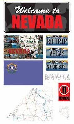 Reminisce NEVADA MINI-MAPS 3-D Epoxy Sticker Sheet scrapbooking 99 CENT SALE!