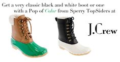De zwart witte vind ik zooo cooool!!  SPERRY TOP-SIDER® FOR J.CREW TWO-TONE TALL SHEARWATER BOOTS item 23921 EUR 191.01