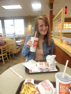4.17.12-getting fancy at wendy's before the APO meeting with Em :)