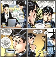Did you notice Dick stole Bruce's coffee?