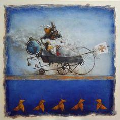 Catherine Chauloux, Vers les vèpres - Huile sur toile - 100 x 100 cm