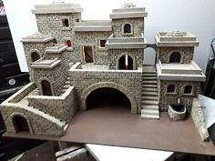 Styrofoam Crafts, Pottery Houses, Christmas Nativity Scene, Planer, Decor Styles, Miniatures, House Styles, Building, Warhammer Terrain