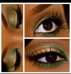 Holiday Look #1 Green sometimes scares me, but I really like this!