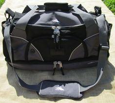 """High Sierra Duffel Carry On Sport gym Weekend Bag Drop Bottom Black & Grey 26""""  #HighSierra #DuffleGymBag"""