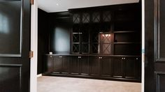 Custom designed cabinet for clients study