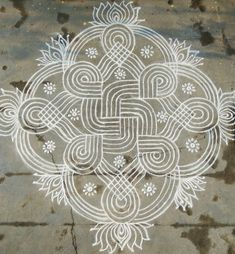 Simple machine quilting beautiful 35 Ideas for 2020 Rangoli Border Designs, Rangoli Patterns, Rangoli Designs Images, Rangoli Designs With Dots, Beautiful Rangoli Designs, Kolam Rangoli, Flower Rangoli, Padi Kolam, Indian Rangoli