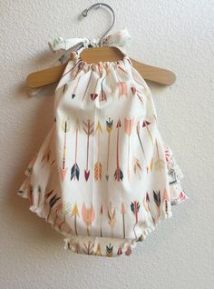 Little Arrows Baby Girl Romper by ALittleArrow on Etsy https://www.etsy.com/listing/239750925/little-arrows-baby-girl-romper
