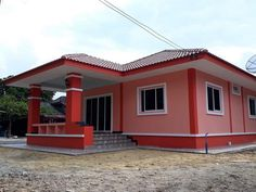 5 Best Design For Three-Bedroom House Beautiful House Plans, Simple House Plans, Modern House Plans, Modern Bungalow House Design, Simple House Design, House Plans Mansion, My House Plans, Philippines House Design, House Outside Design