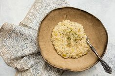 Italian Food Forever » Pressure Cooked Risotto With Leeks, Prosecco, & Parmesan Cheese
