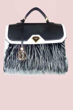 5c3a73aa097 DSUK - FAUX FUR TOTE BAG Unique Handbags, Favelas, Trash Bag, Faux Fur