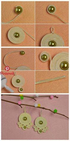 Lerne von h - Diy Schmuck - Fabric Jewelry, Wire Jewelry, Jewelry Crafts, Beaded Jewelry, Jewelery, Handmade Jewelry, Jewellery Box, Jewellery Making, Jewelry Ideas