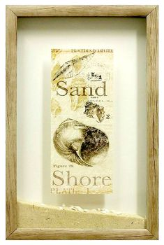 Inspirational Shell Print Beach Sand Shadow Box: http://www.completely-coastal.com/2015/08/shell-print-beach-sand-shadow-boxes.html