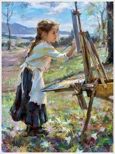 Daniel F. Gerhartz (American, 1965) «The young artist»