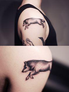 Tattoo 2013 - Part II by Kamil Czapiga, via Behance #wolf
