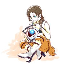 Chell and Wheatley. (Don't know why this is funny. I just didn't have anywhere else to put it)