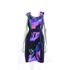 Warehouse Size: 14 Multi-Coloured Sleeveless Dress | Oxfam GB | Oxfam's Online Shop