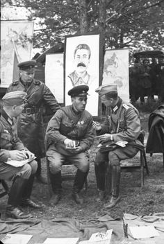 German and Soviet soldiers meet in Brest on September 22, 1939.