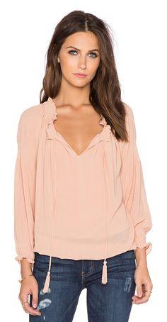 GREYLIN Silvie smocked blouse found on Nudevotion