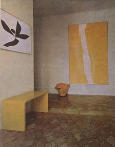 painting by Cleve Gray, drawing by Jack Youngerman, interior design byBilly Baldwin (La Fiorentina)