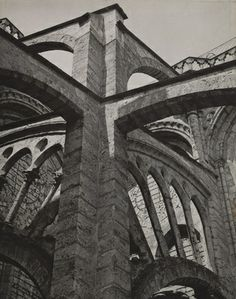 "Buttresses, Chartres Cathedral  Charles Sheeler (American, 1883-1965)    1929. Gelatin silver print, 9 5/8 x 7 9/16"" (24.4 x 19.3 cm). Gift of the photographer  406.1969"
