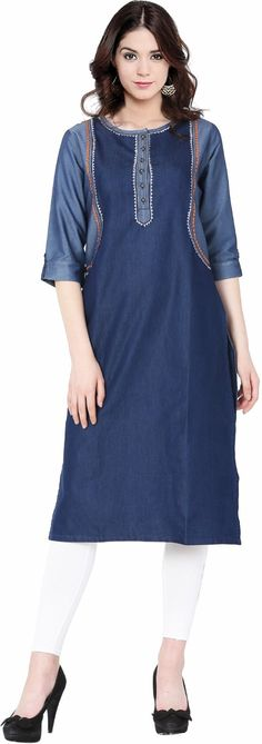 Cheap dress women, Buy Quality a dress directly from China dress a Suppliers: Real Quality Silk Lady Flower Print O-neck Casual Half Sleeves Gradients Dress Women Knee-Length Silk Female Summer A Dress Denim Kurti, Stylish Kurtis, Printed Kurti, Cheap Dresses, Half Sleeves, Cold Shoulder Dress, Short Sleeve Dresses, Clothes For Women, Lady