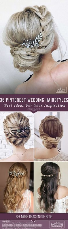 36 Best Pinterest Wedding Hairstyles Ideas ❤ Rustic wedding hairstyles have to look with naturally and tender. We've assembled the best ideas of rustic hairstyles for any length and for every taste! See more: http://www.weddingforward.com/pinterest-wedding-hairstyles/ #weddings #hairstyles #bridalhairstyle #pinterestweddinghairstyles