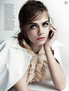 """Girls on Film"" Georgia May Jagger, Suki Waterhouse and Cara Delevingne by Mario Testino for Vogue UK April 2015"