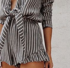 Tie front shirt and shorts set