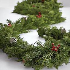 noble fir garland from RedEnvelope.com