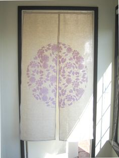 door curtain, fabric paint design from the bedding on muslin?