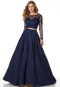 ecf1396a80 Mori Lee Two Piece A Line Dress 42074 Party Dresses With Sleeves