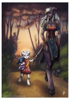 Draenei - Edhan inspirations. No cheek or face tentacles.