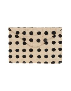 // woven and stamped clutch