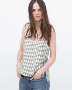 Image 2 of YELLOW T-SHIRT from Zara
