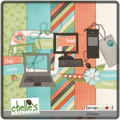 iOnline mini kit freebie from Chelle's Creations