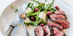Pepperberry-crusted Venison with Pickled Cherries - Lifestyle FOOD