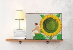 2015 wird schräg - Kunstverstecke - Holztafel von Atelier Art-istique auf DaWanda.com