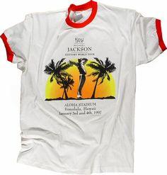 c64d0949 Michael Jackson Men's Vintage T-Shirt from Aloha Stadium, Jan 3, 1997
