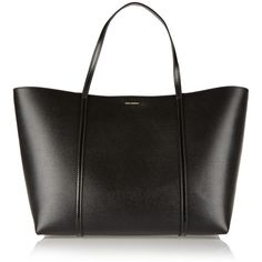 Dolce & Gabbana Dauphine Escape textured leather tote ($1,276) ❤ liked on Polyvore featuring bags, handbags, tote bags, black, pocket purse, black tote bag, dolce gabbana tote, black purse and dolce gabbana tote bags