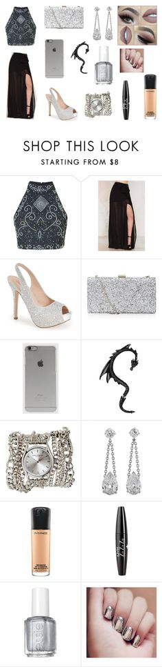 """""""Black&&Silver..."""" by aria543 ❤ liked on Polyvore featuring Lioness, Lauren Lorraine, Incase, Sara Designs, MAC Cosmetics, NYX and Essie"""