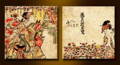 Cuadro Diptico Papiro Japon / 16649885_949
