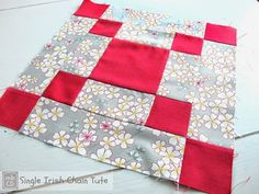 This single Irish chain quilt block is simple, but stunning. There is no end to what kind of creative projects you can make with a block like this, which lends itself to lots of variation and scrap quilting.