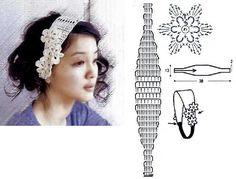 Adorables Diademas Tejidas a Crochet Crochet Edging Patterns, Crochet Stitches, Crochet Hair Styles, Ear Warmers, Plant Decor, Yarn Crafts, Crochet Clothes, Crochet Flowers, Hair Pins