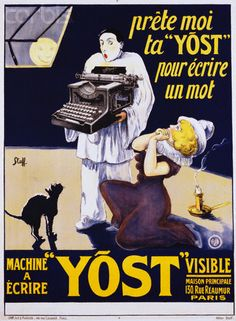 """""""Yost"""" Typewriter Advertisement Poster by J. Stall - AAED003195 - Rights Managed - Stock Photo - Corbis"""